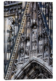 Lienzo  Facades detail at Cologne Cathedral