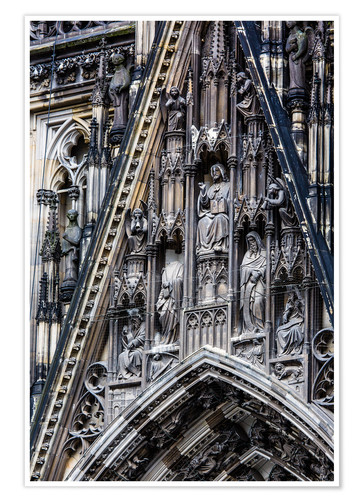 Póster Facades detail at Cologne Cathedral