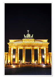 Póster Brandenburg gate (Brandenburger Tor) in Berlin