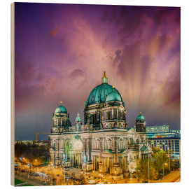 Cuadro de madera  Berliner Dom - German Cathedral at sunset