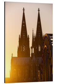 Aluminio-Dibond  Sunset behind the Cologne Cathedral