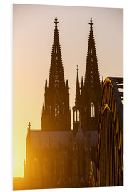 Cuadro de PVC  Sunset behind the Cologne Cathedral