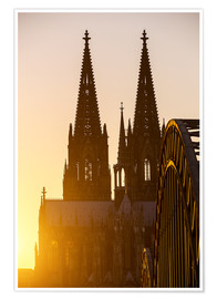 Póster Sunset behind the Cologne Cathedral