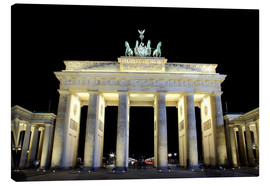 Lienzo  Brandenburg Gate in Berlin by night