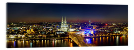 Cuadro de metacrilato  A panoramic view of cologne at night
