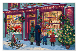 Póster  Toy Shop at Christmas - Steve Read