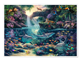 Póster  24177 Jungle Paradise - Steve Read
