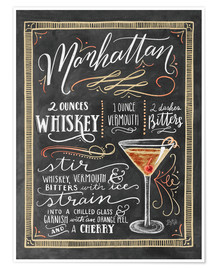 Póster  Manhattan recipe - Lily & Val