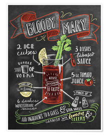 Póster  Receta de Bloody Mary (inglés) - Lily & Val