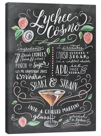 Lienzo  Lychee Cosmo recipe - Lily & Val