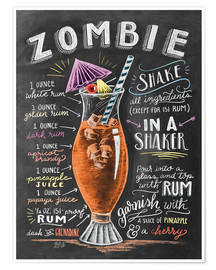Póster  Zombie Cocktail - Lily & Val