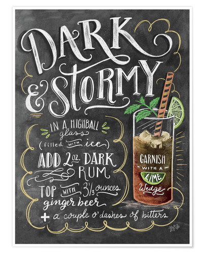 Póster Dark & Stormy Cocktail