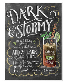 Póster  Dark & Stormy Cocktail - Lily & Val