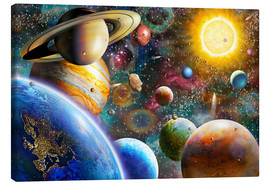 Lienzo  Planets in Space and Europe - Adrian Chesterman