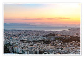 Póster Sunset in Athens