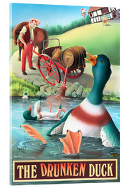 Cuadro de metacrilato  The Drunken Duck - Peter Green's Pub Signs Collection