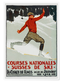 Póster  Courses national suisses de ski (francés) - Jules Courvoisier