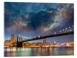Cuadro de metacrilato  Brooklyn Bridge in stunning colors