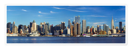 Póster Manhattan skyline panorama
