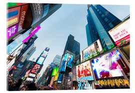 Cuadro de metacrilato  Times Square - most popular spot in New York