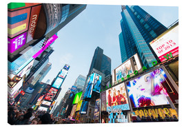 Lienzo  Times Square - most popular spot in New York