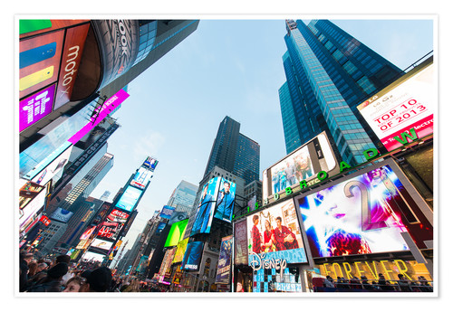Póster Times Square - most popular spot in New York