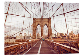Cuadro de metacrilato  New York Brooklyn Bridge and city skyline