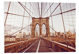 Cuadro de PVC  New York Brooklyn Bridge and city skyline