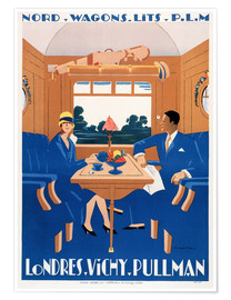 Póster Londres-Vichy Pullman
