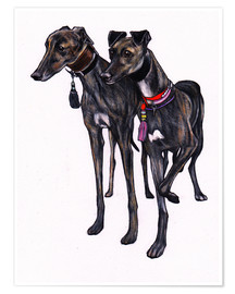 Jim Griffiths - Brindle greyhounds