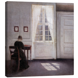 Lienzo  Interior with sunlight on the floor - Vilhelm Hammershøi
