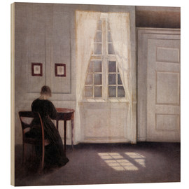 Madera  Interior with sunlight on the floor - Vilhelm Hammershøi