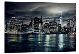 Cuadro de metacrilato  Manhattan at night, New York City