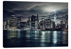 Lienzo  Manhattan at night, New York City