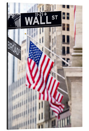 Aluminio-Dibond  Wall street sign with New York Stock Exchange