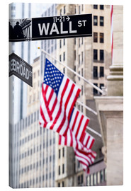 Lienzo  Wall street sign with New York Stock Exchange