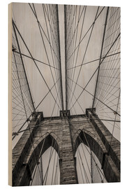 Madera  Brooklyn Bridge in New York