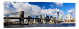 Cuadro de metacrilato  Panoramic Brooklyn Bridge and Manhattan skyline