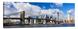 Lienzo  Panoramic Brooklyn Bridge and Manhattan skyline