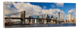 Cuadro de madera  Panoramic Brooklyn Bridge and Manhattan skyline