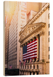 Cuadro de madera  New York Stock Exchange