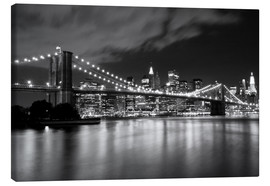 Lienzo  Brooklyn Bridge - Night scene