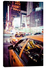 Lienzo  Yellow Cabs and City Lights