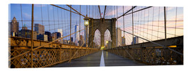 Cuadro de metacrilato  Brooklyn Bridge in Manhattan, New York