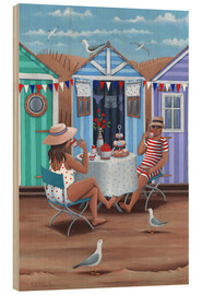 Cuadro de madera  26242 Beach Huts Afternoon Tease (Variant 1) - Peter Adderley