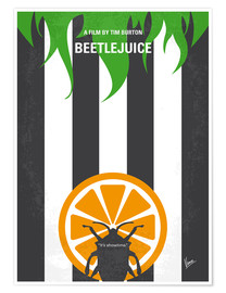 chungkong - No531 My Beetlejuice minimal movie poster