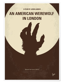 Póster  No593 My American werewolf in London minimal movie poster - chungkong