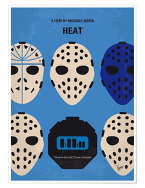 Póster No621 My Heat minimal movie poster