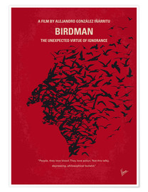 Póster  No604 My Birdman minimal movie poster - chungkong