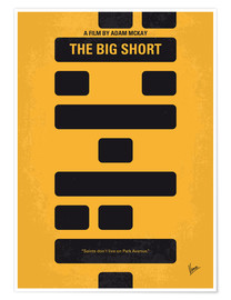 Póster No622 My The Big Short minimal movie poster